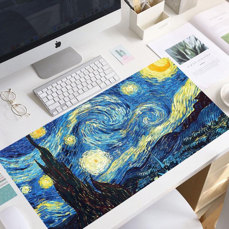 Van Gogh Mouse Pad 80x30cm Notbook Computer Mousepad Large Arting Game Keyboard Mice Mat Gaming mous