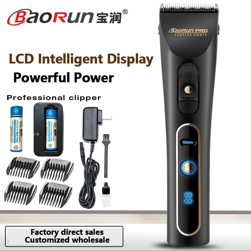 Baorun A6S Professional Electric Hair Clipper Trimmer Kits Rechargeable HairCutting for Men Children