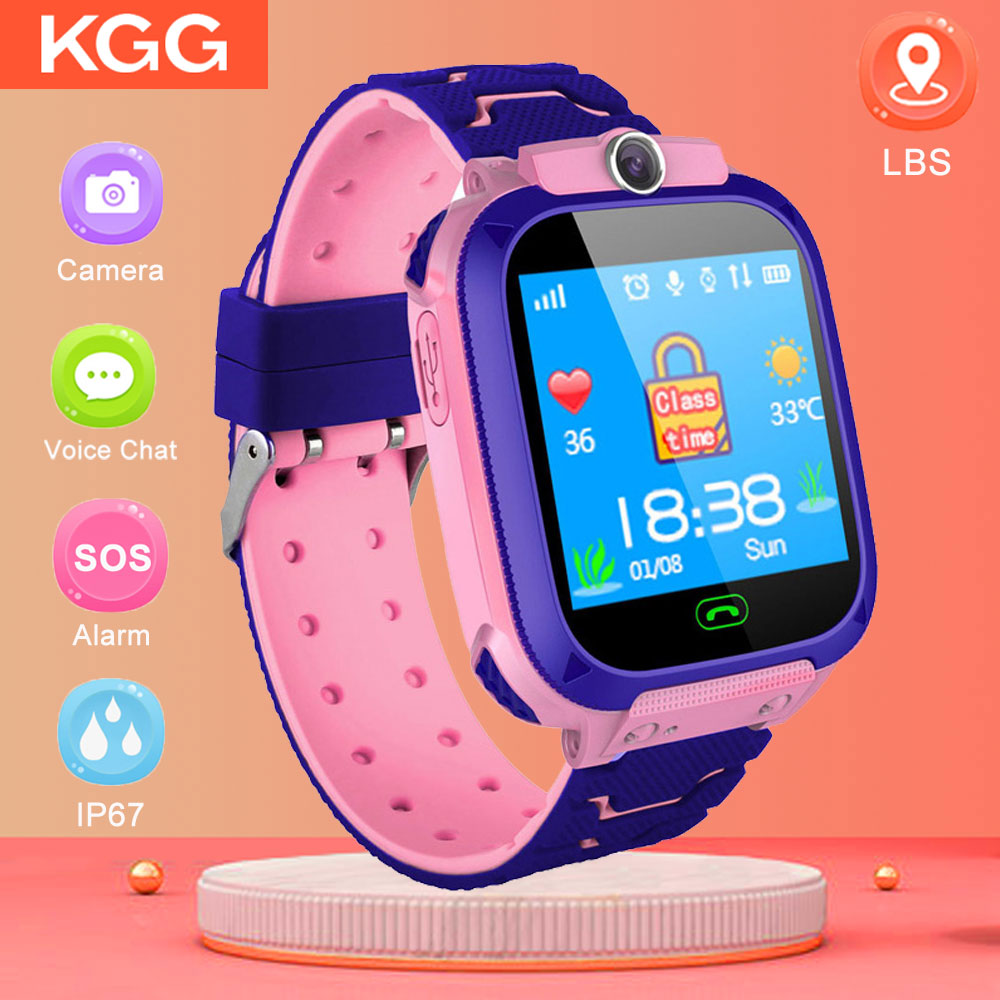 Nuevo reloj inteligente para niños, reloj con Monitor seguro para niños, linterna para bebé, reloj inteligente con cámara remota, llamada de emergencia, reloj inteligente LBS VS DZ09
