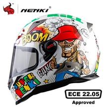 NENKI casque de Moto hommes casque intégral Moto équitation ABS matériel Motocross casque Moto ECE Certification Casco Moto #