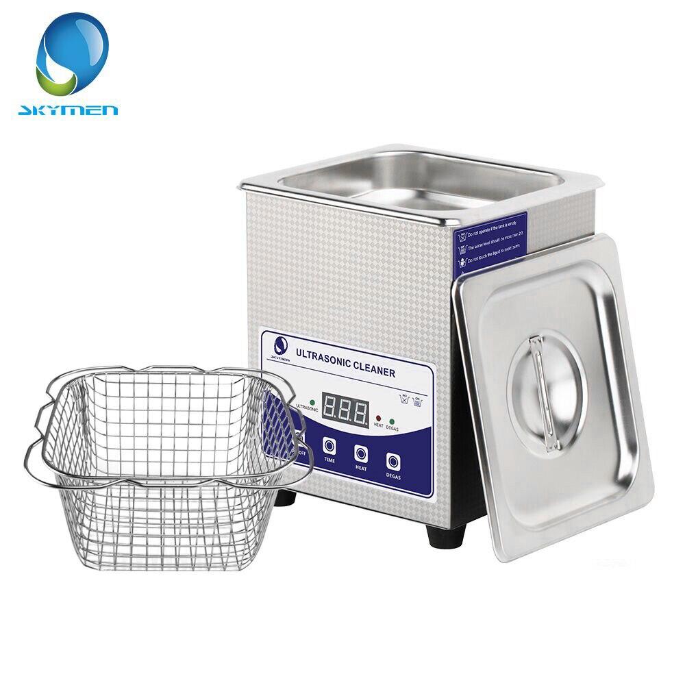 Цифровой ультразвуковой очиститель SKYMEN 2L с Degas, таймер нагрева, ванночка 60 Вт, ультразвуковая машина, стоматологические часы-очки, инструменты для монет