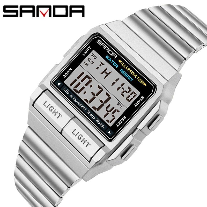 Часы наручные Sanda мужские/женские кварцевые аналоговые/цифровые, модные профессиональные спортивные водонепроницаемые в стиле милитари, с ...