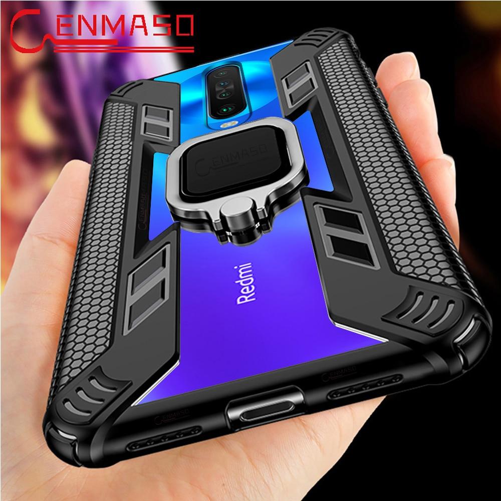 For Xiaomi Redmi K30 5G Case for Redmi Note 9S 8T 8 Pro 7 K20 Magnetic Car Holder Case for Xiaomi Mi Note 10 Pro A3 Lite 9 Lite