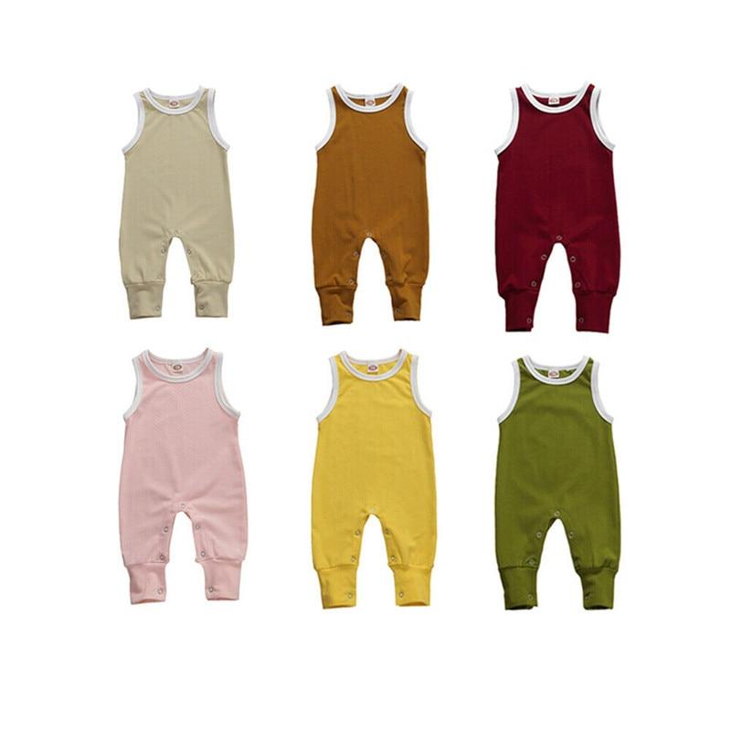 Комбинезон для маленьких девочек; Детский комбинезон для новорожденных; Комбинезон без рукавов с круглым вырезом; Комбинезоны; Пижамы для м...