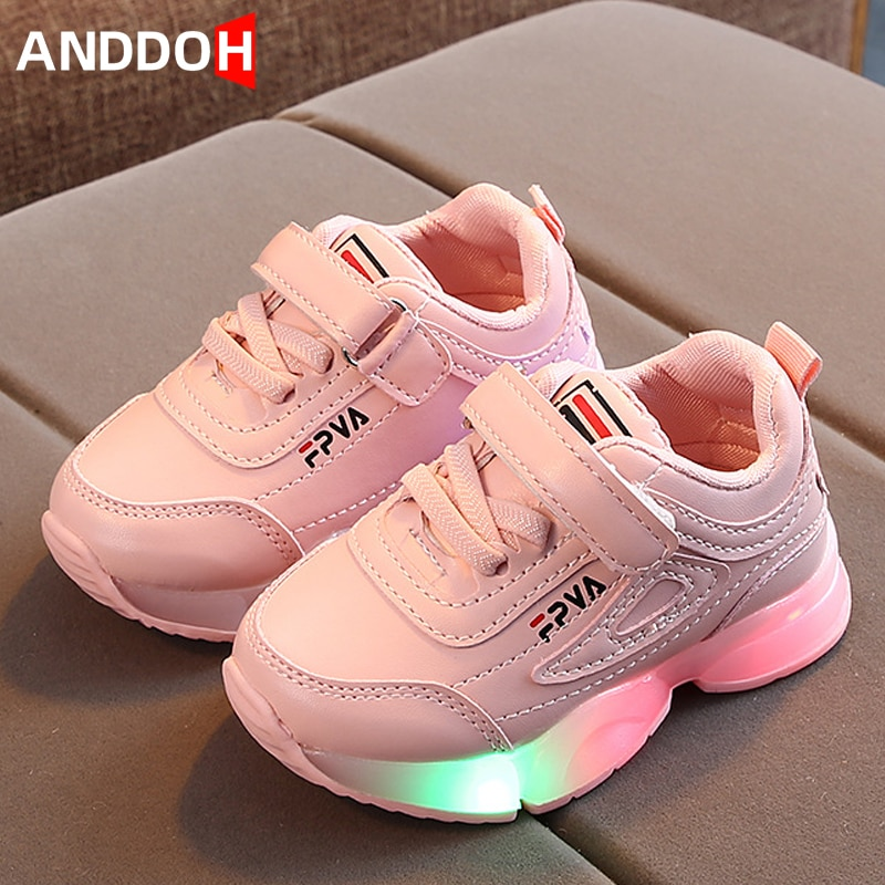 Zapatos de bebé informales para niños de tamaño 21-30, zapatillas luminosas para chico Led, zapatos Unisex para bebé, zapatillas con suela luminosa