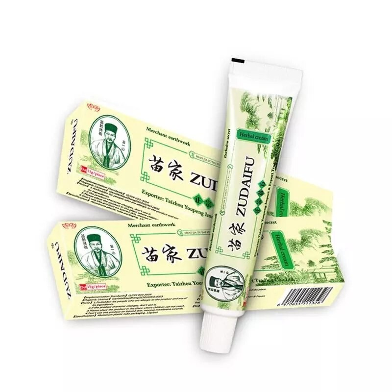With Box Dropshipping Zudaifu Skin Psoriasis Cream Dermatitis Eczematoid Eczema Ointment Treatment Psoriasis Skin Care Cream