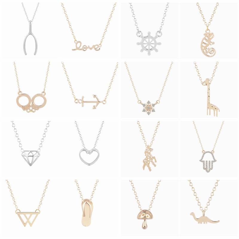 Collar con diseño de jirafa, camaleón, caballo, dinosaurio, collar con diseño de esposas para mujeres y niñas, joyería de estilo Vintage, colgante de cristal con Hamasa para regalo