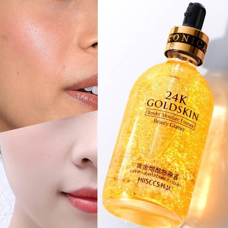 Nuevo maquillaje de imprimación de 15ML/30ML Esencia de oro de 24K Elixir Control de aceite facial hidratante Base blanqueadora maquillaje Primer minimizador de poros