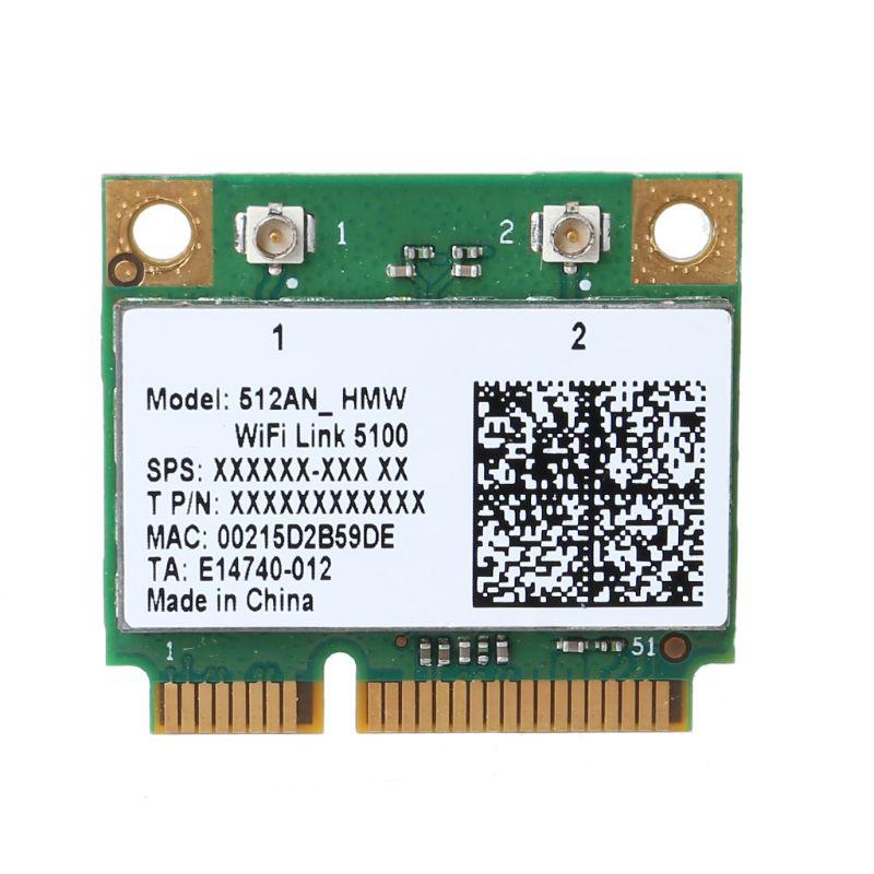Banda Dual de tarjeta inalámbrica wi-fi 5100 512AN_HMW Mini PCI-E Wlan adaptador de tarjeta de red