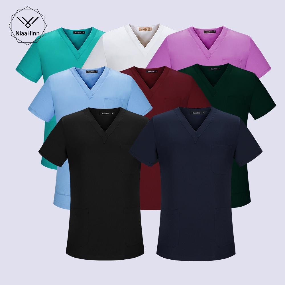 Женский и мужской набор спецодежды зеленый красный цвет|Медицинский костюм| |