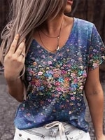zogaa summer casual tee short sleeve women t shirts print street tops female v neck loose t shirt 5xl plus size top pullover