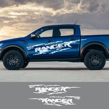 2 Stuks Voor Ford Ranger Raptor Pickup Off Road Decals Auto Styling Deur Side Stickers Auto Vinyl Graphics Body Decor auto Accessoires