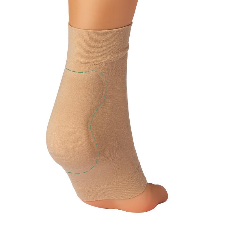 1 par de zapatos botas elástico de silicona Gel vendaje manga Nylon talón pie proteger para el patinaje sobre hielo caballo transpirable