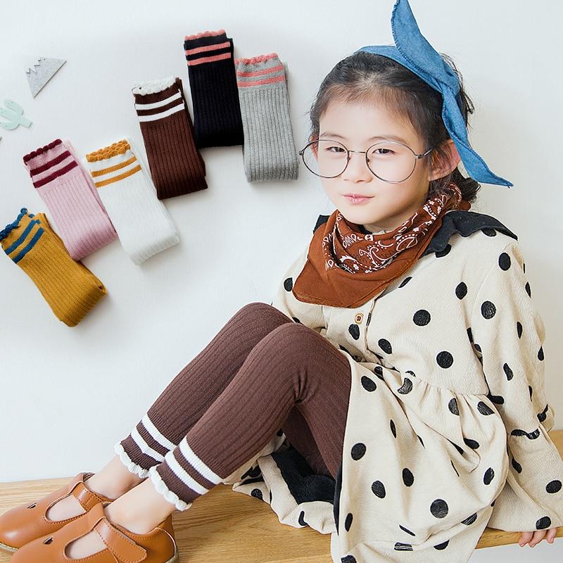Medias de Picot para niñas de Seven & mami, medias de algodón acanaladas para niños