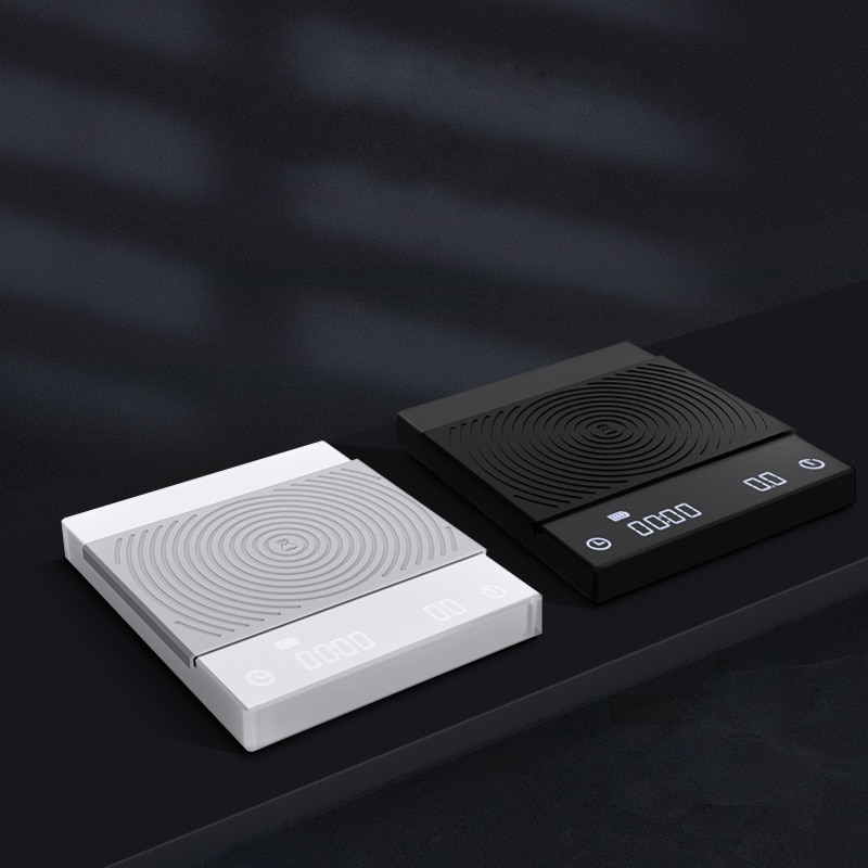 Báscula electrónica TIMEMORE con temporizador 2kg/0,1g, báscula Digital LCD de cocina o cafetería, herramienta de pesaje Libra, balanza de precisión para joyería USB