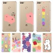For Huawei Y3 Y5 Y6 II Y7 Pro Phone Case Silicone Candy Bear Kawaii Soft Back Cover For Huawei Y5 Y6 Y7 Prime 2017 2018 Y9 2019