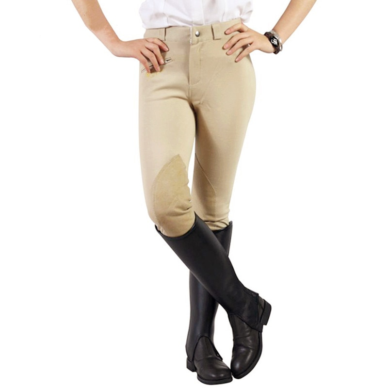 Womens Horse Riding Pants Equestrian Breeches Women Soft Breathable Skinny Tight Horseback Riding Chaps Elastic Autumn Winter