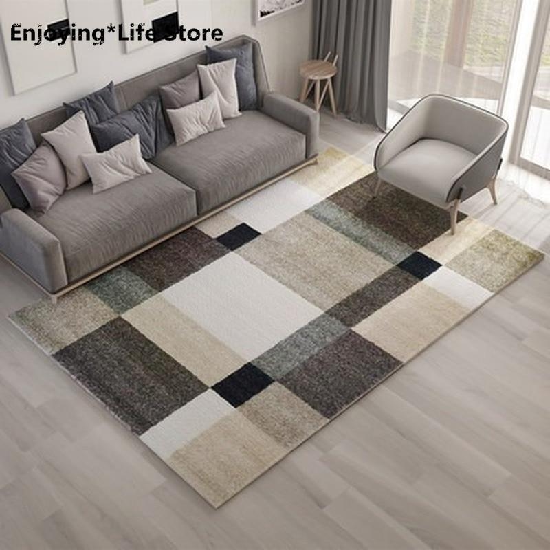 سجادة غرفة المعيشة الحديثة البسيطة ، غرفة المعيشة ، النمط الهندسي ، للأرضية ، المنزل