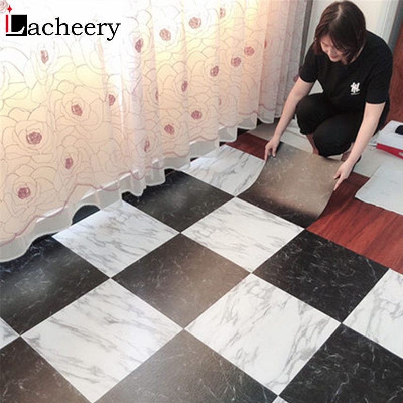 Pegatinas de suelo impermeable, papel tapiz de mármol autoadhesivo, adhesivos para pared de cocina, renovación de casa, decoración de suelo de pared DIY