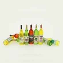 8 pièces/ensemble vin Whisky bière bouteilles poupées maison Miniature Pub Bar accessoire 112 échelle ZXY9695