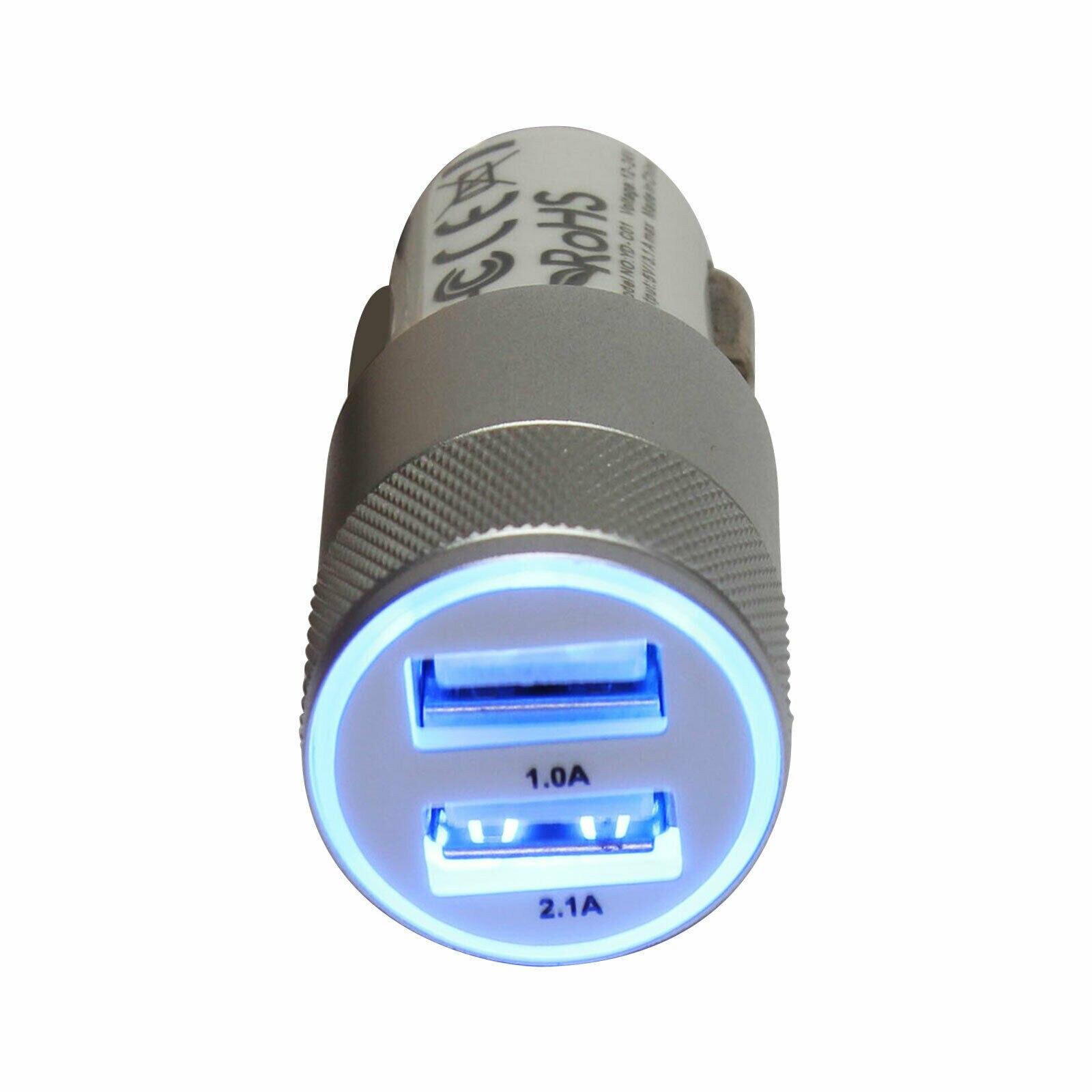 12-24V Car Charger 2 Port Accessories Cigar Lighter Dual USB Mobile Phone