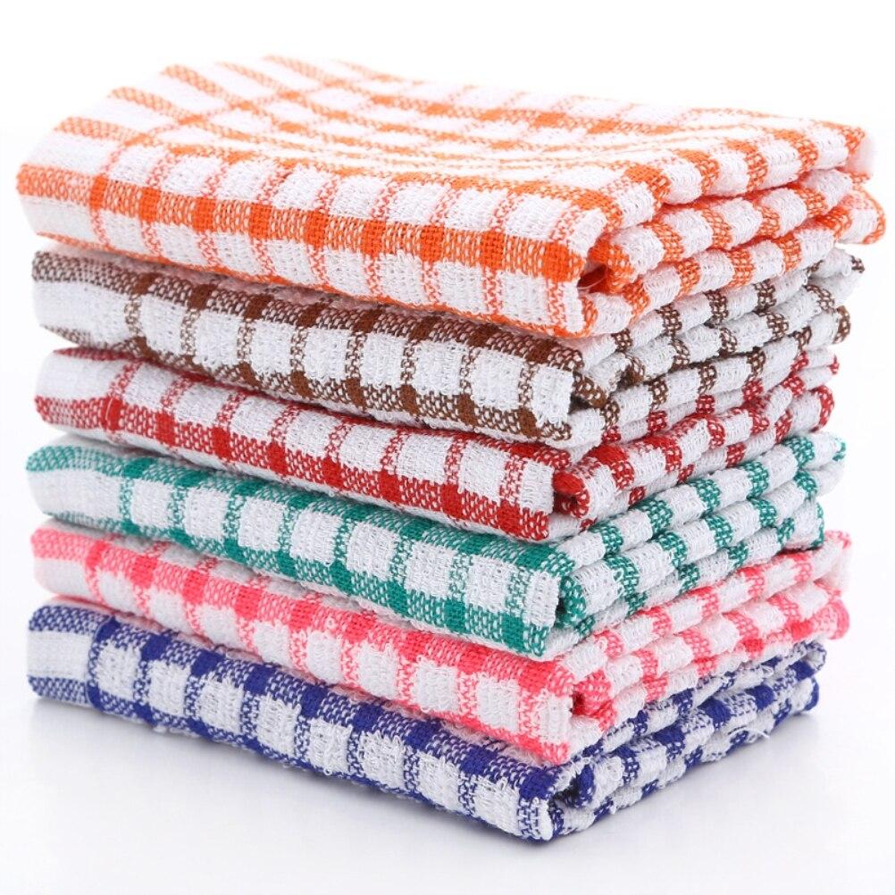 6 шт., хлопковые кухонные полотенца
