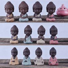 4 petites statues de bouddha traditionnelles   sculpture de mandala indien, animaux de thé C63B