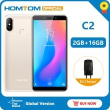 Version originale HOMTOM C2 Android 8.1 2 + 16GB téléphone portable Face ID MTK6739 Quad Core 13MP double caméra OTA 4G FDD-LTE Smartphone