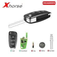 [UK Schiff] Xhorse Universal XKA600EN Draht Remote Key 3 Tasten Für Audi A6L Q7 Typ Remote Key Shell chip Für VVDI2 1 Stück