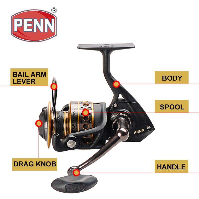 Original PENN BATTLE II Fishing Spinning Reels 3000/4000/5000/6000/8000 Gear Ratio 6.2:1/5.6:1/5.3:1 Saltwater enlarge