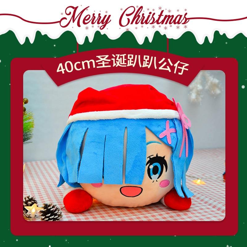 Anime ReLife in a diferente world from zero Rem Ram, Cosplay de Emilia, cojín de juguete, peluche de felpa, cojines, muñecos de regalo