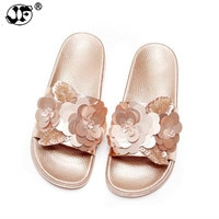 2019 New Women Bright Slippers Spring Summer Autumn Home Beach Slippers Home Flip Flops Comfortable Flat Shoes 988