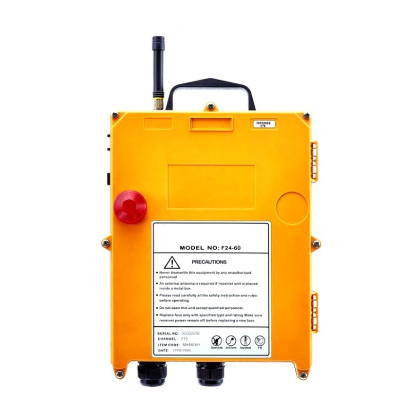 F24-60 industrial wireless universal radio remote control for overhead crane AC/DC 2transmitter and 1receiver enlarge