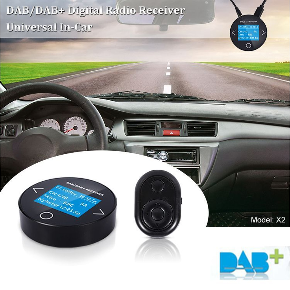 Adaptador de antena para coche, transmisor FM DAB + receptor, sintonizador de...