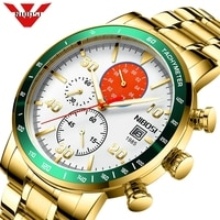 NIBOSI Business Watch Men Luxury Brand Stainless Steel Quartz Wrist Watch Chronograph Army Military Watches Relogio Masculino