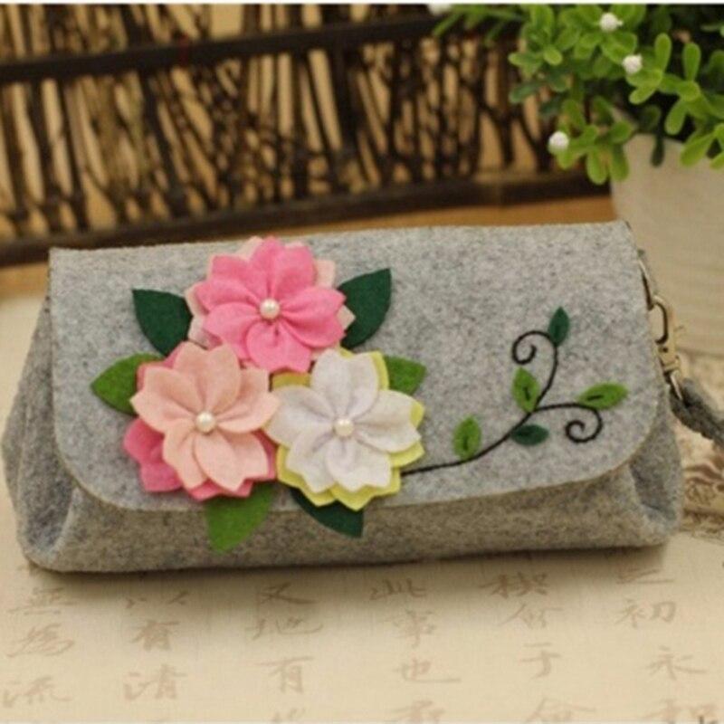 2020 creativo arte de coser de fieltro DIY artesanal cereza bolso hecho a mano Corte libre paquete de Material de fieltro