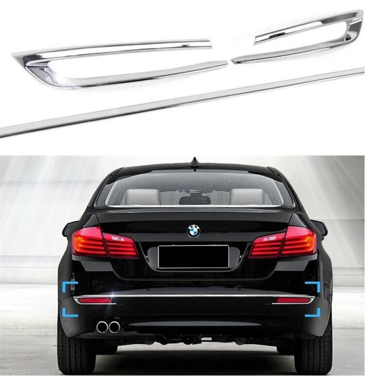 ABS الكروم الخلفي الوفير حامي الحرس غطاء غطاء صب غطاء و الضباب ضوء مصباح الزخارف ل BMW 5 سلسلة F10 2014 2015 2016 2017