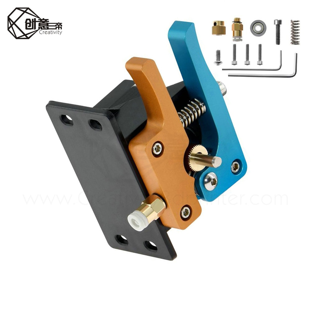 Glod Blue MK8 Bowden extrusora directa Metal completo aluminio remoto Hotend extrusora Kit 1,75mm filamento 3D piezas de impresora