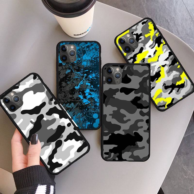 AliExpress - Military Army Camo Camouflage Pattern Phone Case for iPhone 11 12 pro XS MAX 8 7 6 6S Plus X 5S SE 2020 XR mini