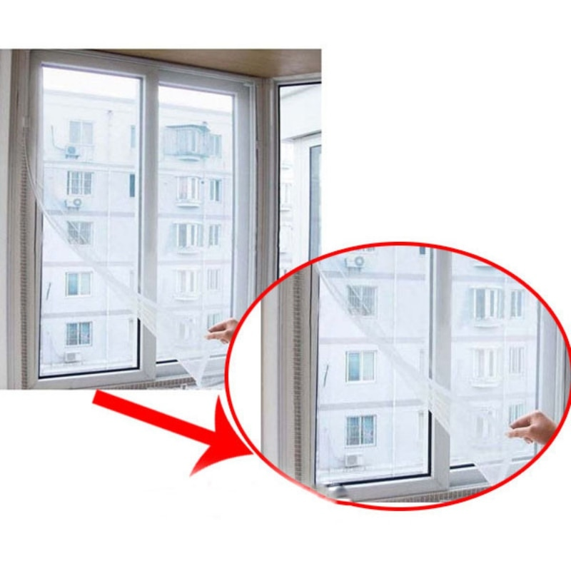 Cortina de tul transparente para ventana de hogar, cocina, sala de estar, cortina moderna de poliéster, malla Invisible, pantalla Anti Mosquito, nuevo