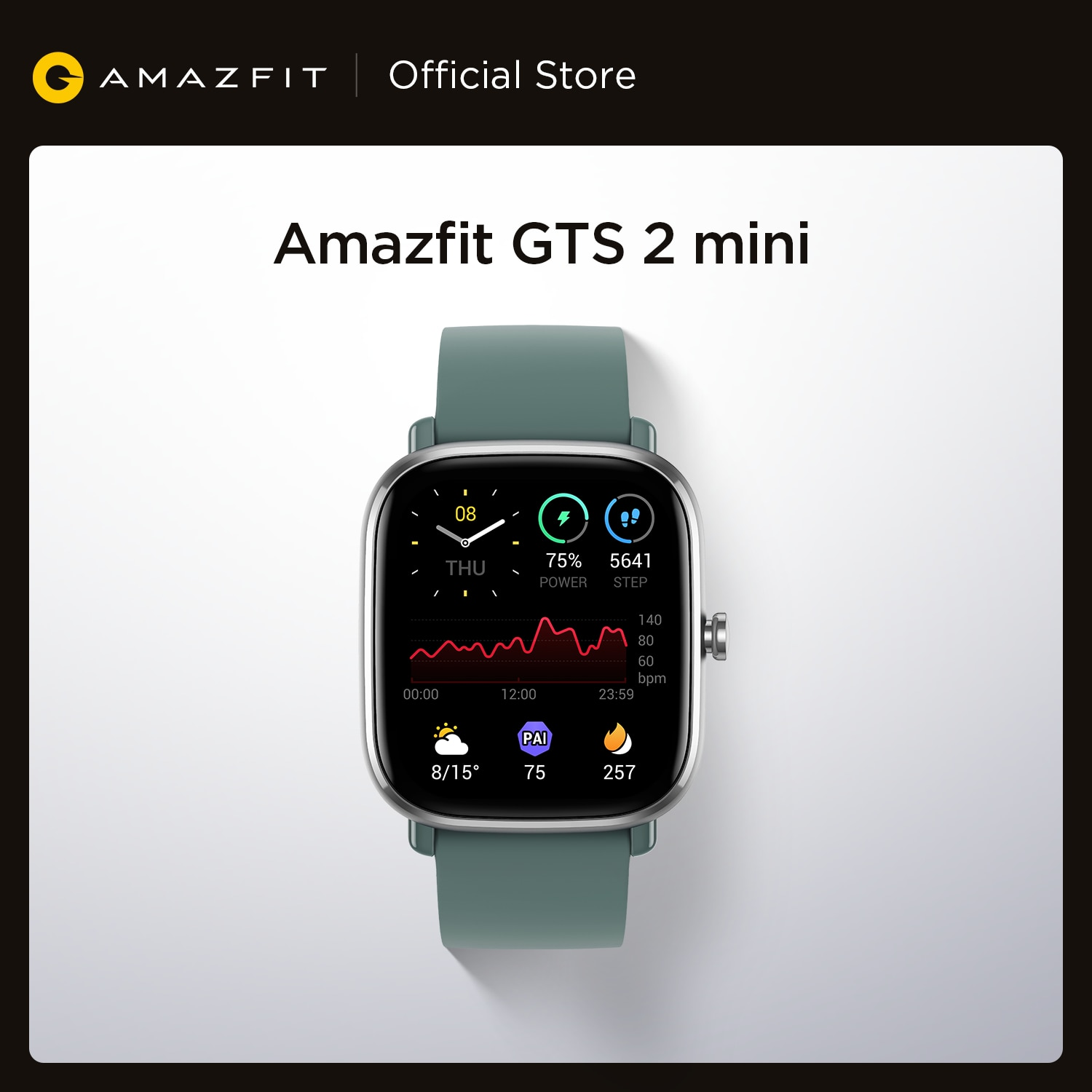 Global Version Amazfit GTS 2 Mini GPS Smartwatch 1.55'' 301 ppi AMOLED Display 70 Sports Modes Smart Watch For Android iOS Phone