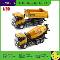 150 huina toy alloy car model simulation crane loader dumper truck engineering vehicle caterpillar collection toys for children