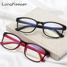 LongKeeper Mode Transparent platz gläser klar rahmen Frauen Spektakel brille Männer Brillen Rahmen nerd optische rahmen klar