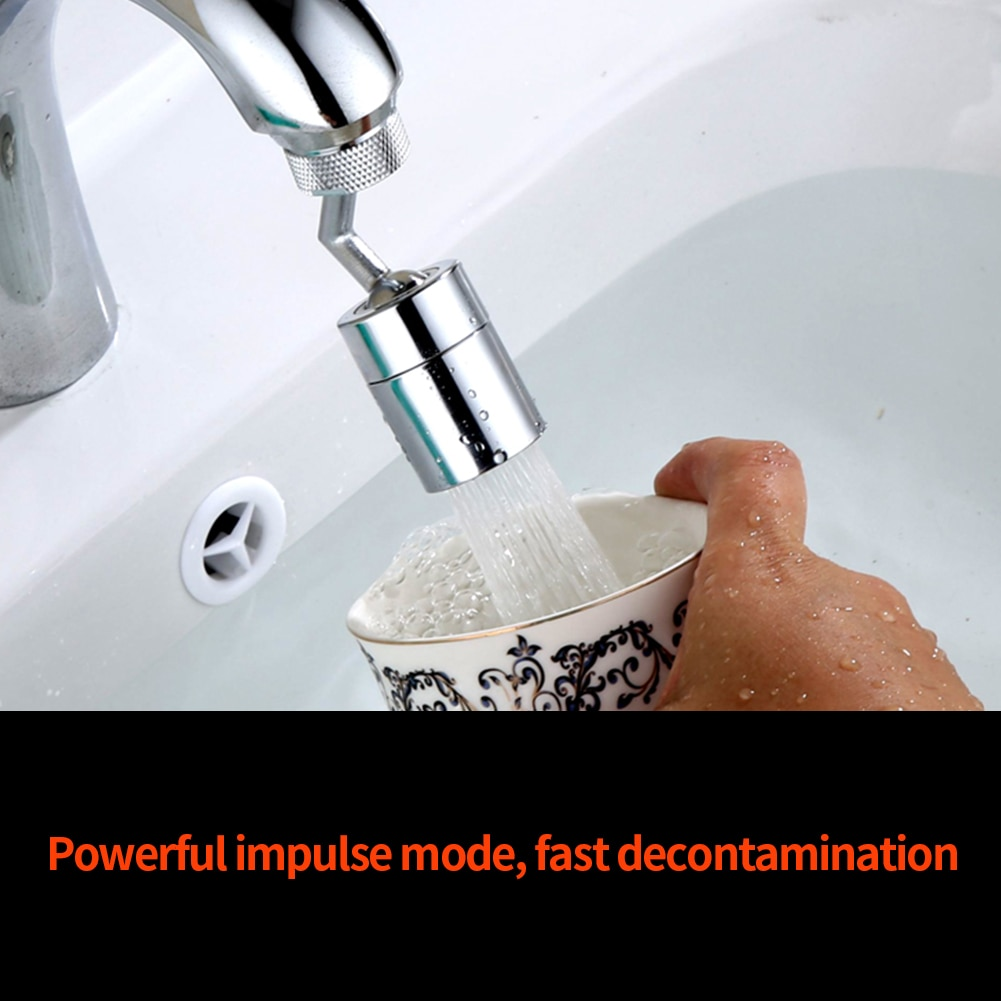 720° Rotatable Faucet Universal Splash Filter Extender Tool Anti-Splash Tap Faucet Sprayer Head Adapter For Kitchen Bathroom enlarge