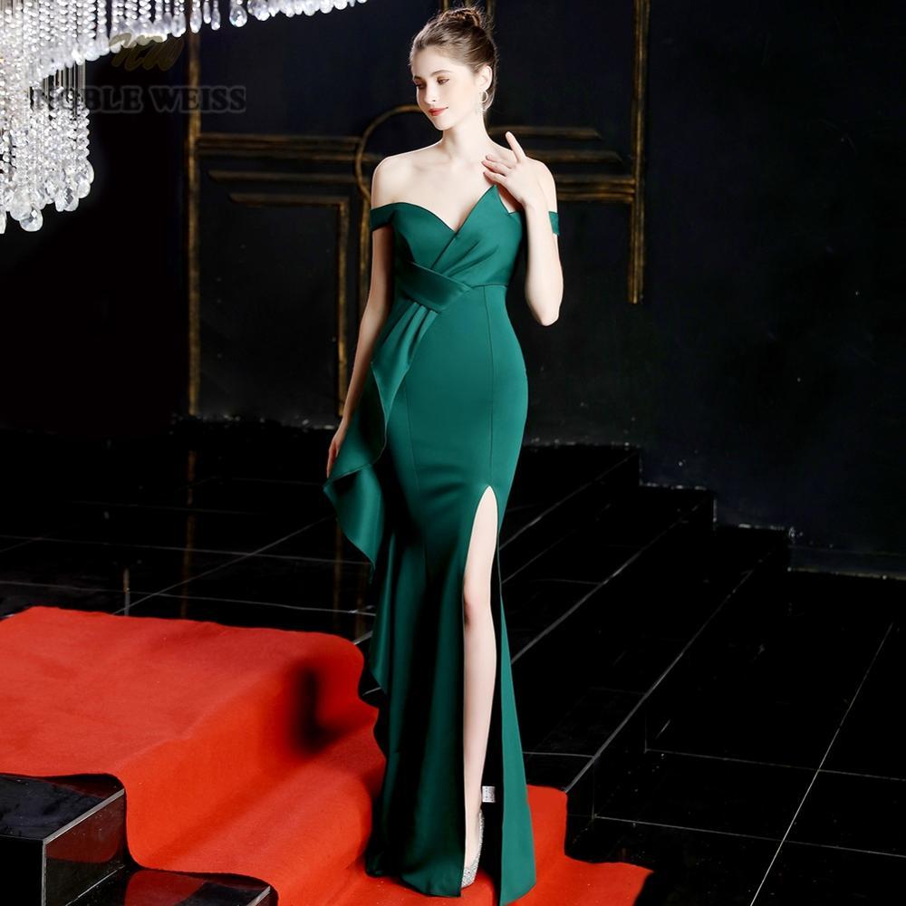 prom dresses 2021 green mermaid sexy split elastic party dress sexy vestidos de gala sweetheart long prom gown