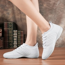 Kids Adult Aerobics Shoes White Dance Shoe Women Sneakers for Aerobics Girls Competitive Shoes Soft