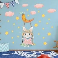 Autocollants muraux en forme de lapin  decoration pour chambre denfant  decor mural  decoration pour la maison  Art