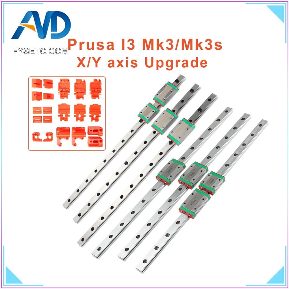 Guia de Trilho Mgn12 para Impressora Mk3s com Slide Kit de Atualização Fysetc Hiwin X-axis Y-axis Linear 3d Prusa Block