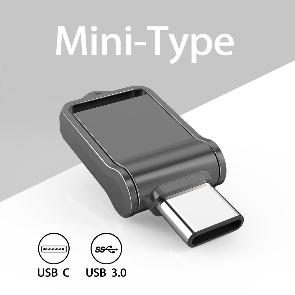 TOPESEL32GB 64GB 128GB OTG Type C USB 3.0 Flash Drive Mini External Memory Stick for SmartPhone, MacBook, Tablet, Samsung Galaxy
