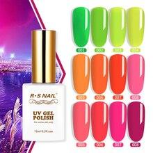 RS vernis à ongles vernis à ongles néon Florescent vernis à ongles Gel UV longue durée professionnel manucure Gel Lak 15ml